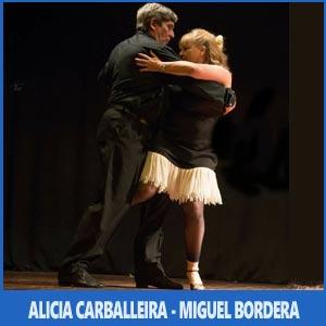 La pareja de baile de Alicia Carballeira y Miguel Bordera  actuando en el Auditorio de Teis, Vigo, Festival de los Argentinos, Julio 2017