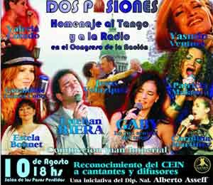 Homenaje a la radio y el tango en el Congreso de la Nación de Argentina