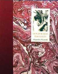 Portada del libro: Alejandra Pizarnik dos poemas iniciales,   Del Centro Editores, Madrid, España.