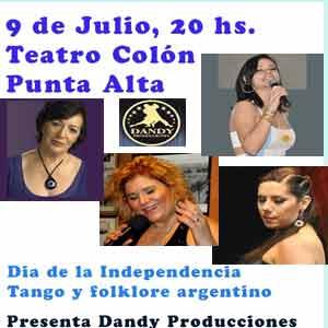 Cartel de la actuación de la cantante española, Ángeles Ruibal, con su recital Así siento a Yupanqui, en la ciudad de Punta Alte, provincia de Buenos Aires, Argentina, el 9 de julio 2013