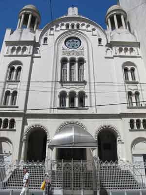 Templo hebraico de la Calle Paso en Buenos Aires, Argentina. Es una de las sinagogas más importantes de la capital rioplatense.
