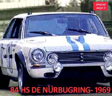 Torino, el gran coche argentino que compitió en 1969 en las 84 Horas de Nürburgring, Alemania