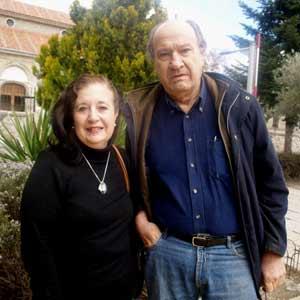 Iris Iglesias, actriz, poeta y cantante argentina, con Oscar Velasco, actor y director teatral también argentino, residentes en la Comunidad de Madrid, España