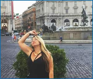 Veronica Caserio, argentina radicada en Italia, nieta de Ulderino Caserio, el autor de Tango de otros tiempos