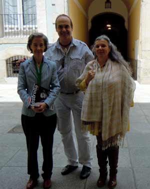 Vicente López Pérez y sus acompañantes durante la visita a la Real Academia de Bellas Artes de San Fernando, Madrid, España